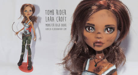 Lara Croft | Monster High OOAK | ON SALE by Aintza-K