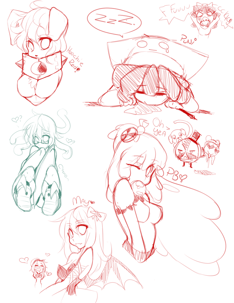 Mini sketchdump by punipaws