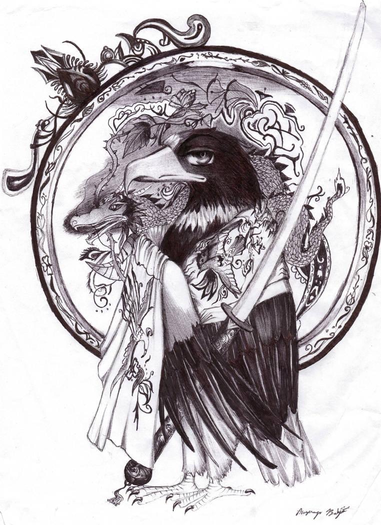 Anime eagle by akshayabirdsong