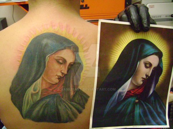virgen maria tattoo by kamuyart on DeviantArt