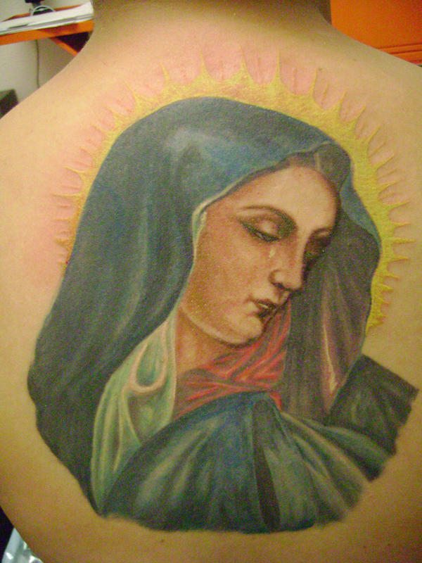 virgen maria tattoo close up by kamuyart on DeviantArt