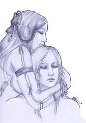 Naradel and Kelian by DarkMelusine