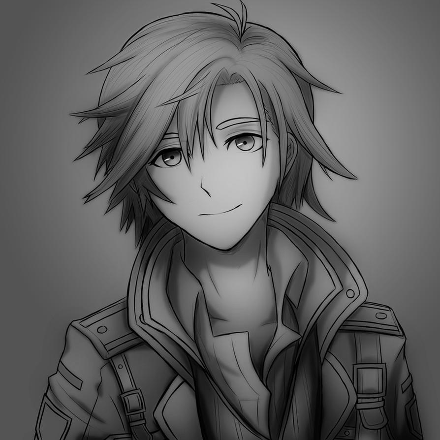 trail etiquette coloring pages | Rean Schwarzer (Trails of Cold Steel) - No Color by ...