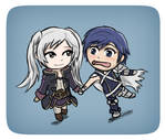 Robin and Chrom ~ Chibi Form