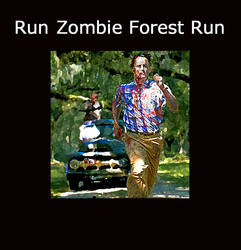 Zombie gump getting chased by truck with Darrel an by Mortifann