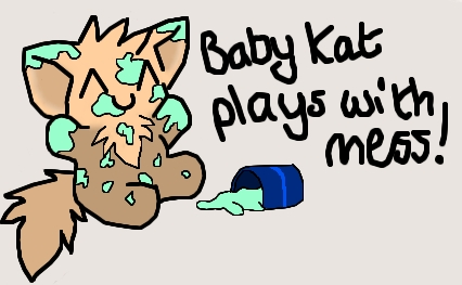 :Baby Kat Plays With Mess: by copper-hearts
