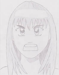 Third try drawing Anime by eL-Falso