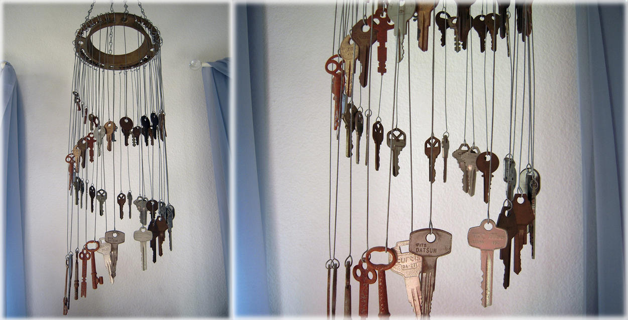 key chime windchime by llyzabeth on deviantart