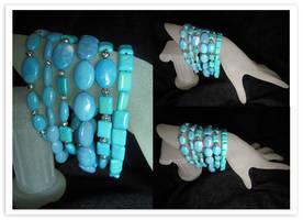 Turquoise Layer Bracelet by Llyzabeth