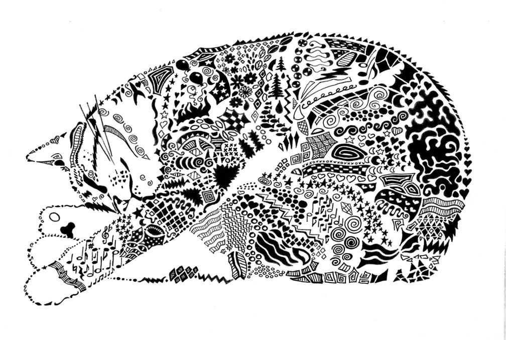 doodle cat by llyzabeth on deviantart