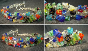 Woven Wire Bracelet by Llyzabeth