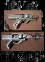 Recycled Retro Ray Gun by Llyzabeth