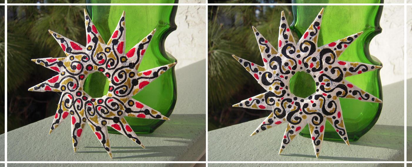Painted Origami Star by Llyzabeth