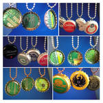 Bottle cap circuit board pendants