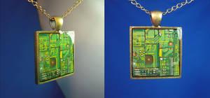 Circuit Board Pendant Pieces