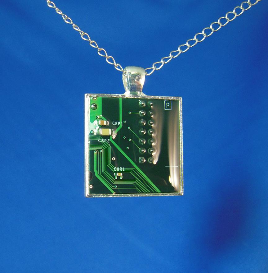 Circuit Board Pendant: P by Llyzabeth