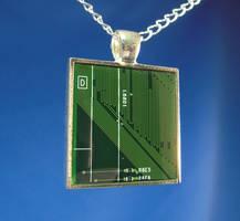 Circuit Board Pendant: D by Llyzabeth