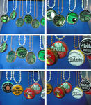 Bottle cap circuit board pendants - new batch