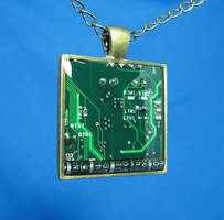 Circuit Board Pendant: Diodes by Llyzabeth