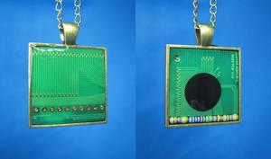 Circuit Board Pendants: Fax Machine by Llyzabeth