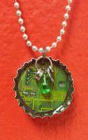 Bottcap Pendant with Hanging Hardware by Llyzabeth