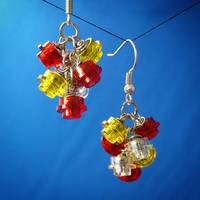 Lego Earrings by Llyzabeth