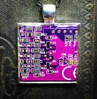 Circuit Board Pendant: C by Llyzabeth