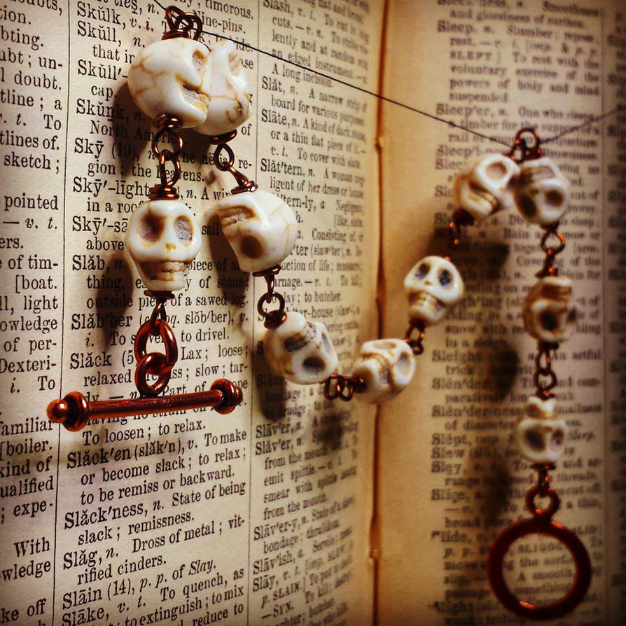 Skull and Copper Bracelet by Llyzabeth