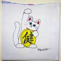 Maneki-neko with extra luck. by Llyzabeth