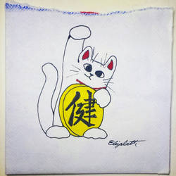 Maneki-neko with extra luck. by Llyzabeth