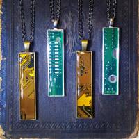 Circuit Board Pendants - Pencil Width