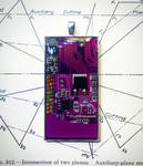 Circuit board pendant - Purple and Resistors by Llyzabeth