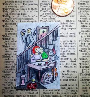 Tiny Tarot Card - Thirteen of Antiques