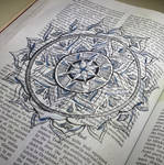 Altered Book: Medical Guide Mandala by Llyzabeth