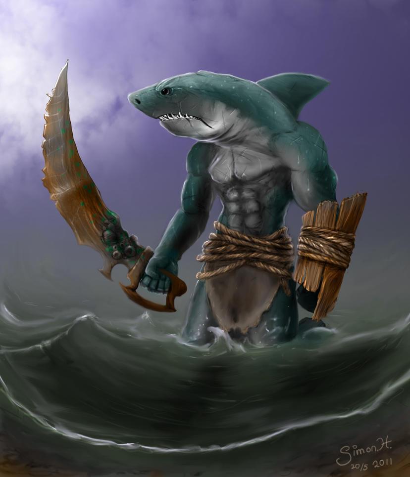 Sharkman art - photo#2