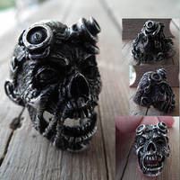 Zombie Steampunk Ring by Zrognak