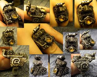 Torchlight Steampunk Ring by Zrognak