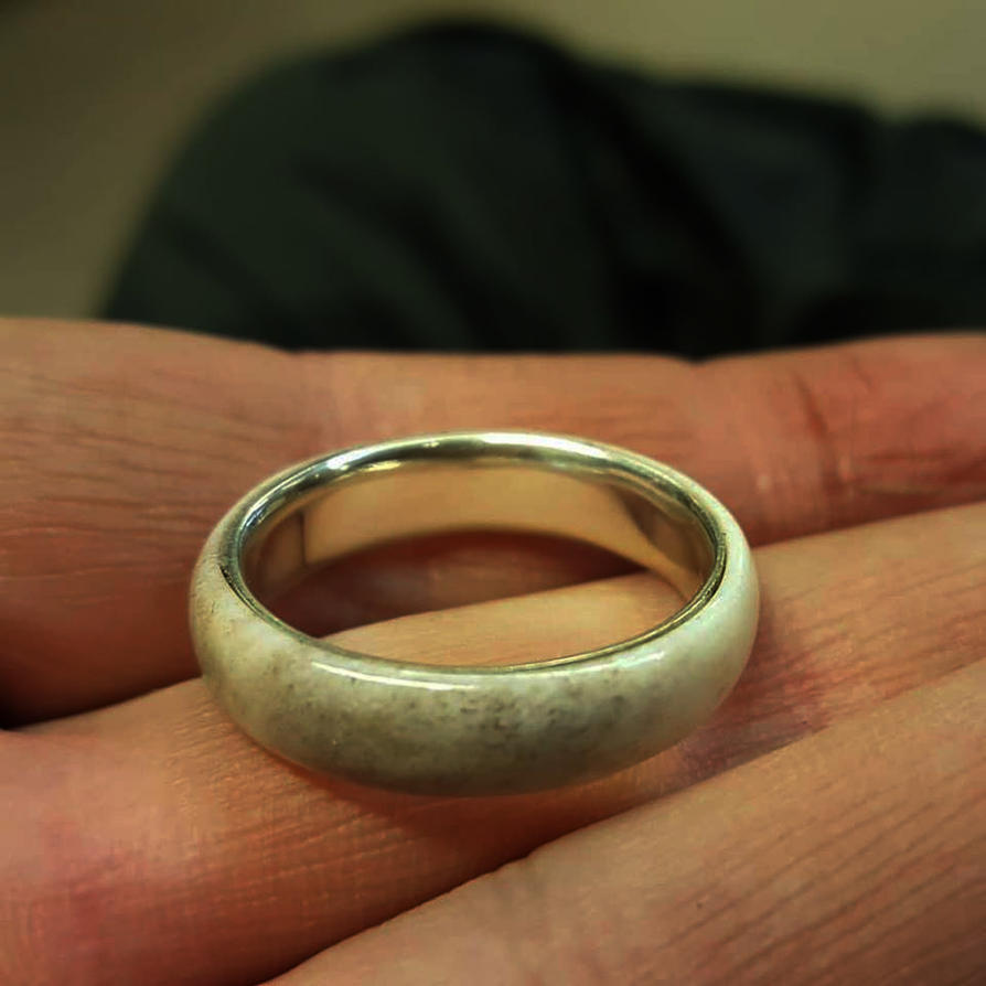 First Soldered Silver Ring. by Zrognak