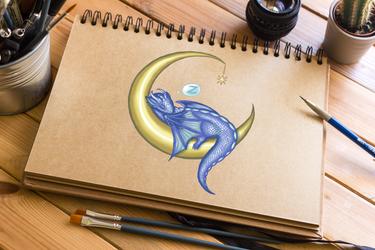 Baby Moon Dragon by NicholiDeSchidor