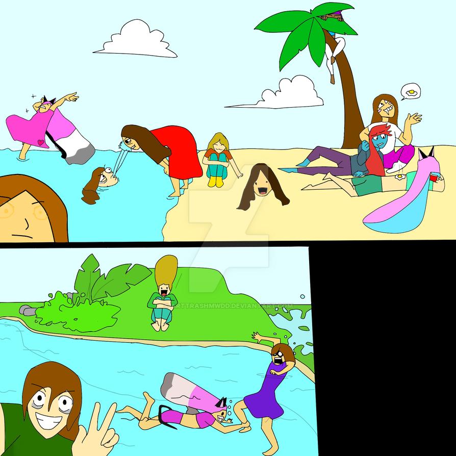 Draw the squad beach day by arttrashmwdd