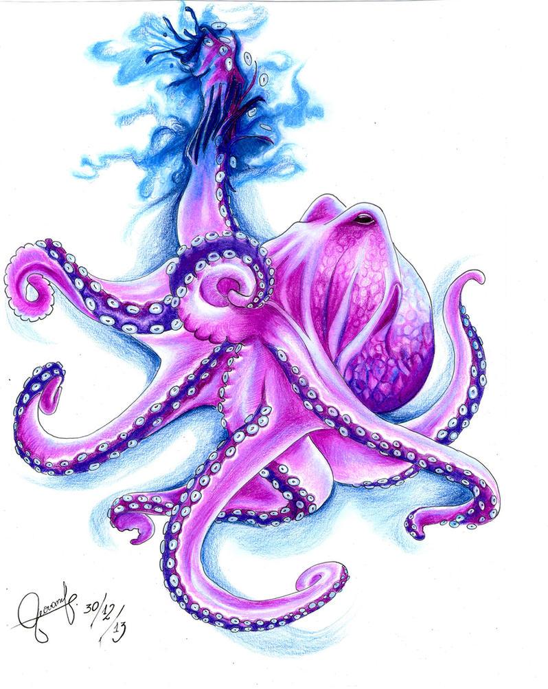 Purple Octopus by shefeelings