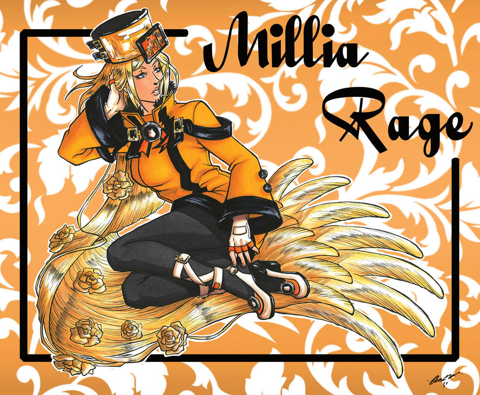 Millia Rage_Guilty Gear Xrd Sign by Psycho-Firefly