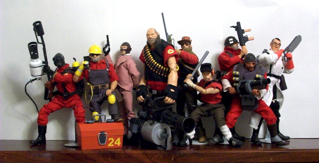 Team Fortress 2 dolls by JNorad