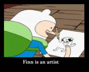 Finn the artist by Shizuka-cute