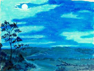Sarina by moonlight by QueenslandChris