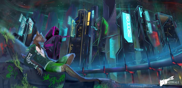[C] CyberHyena Cityscape