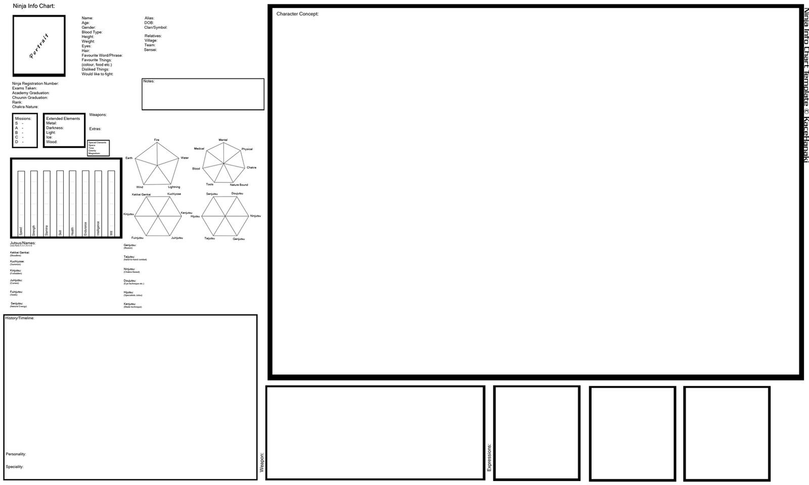 Anime Character Design Template : Ninja info chart template by suspiria ru on deviantart
