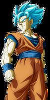 Son Goku Supa Saiyajin Buru by Monstkem