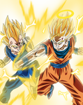 Majin Bejita VS Son Goku Supa Saiya-jin
