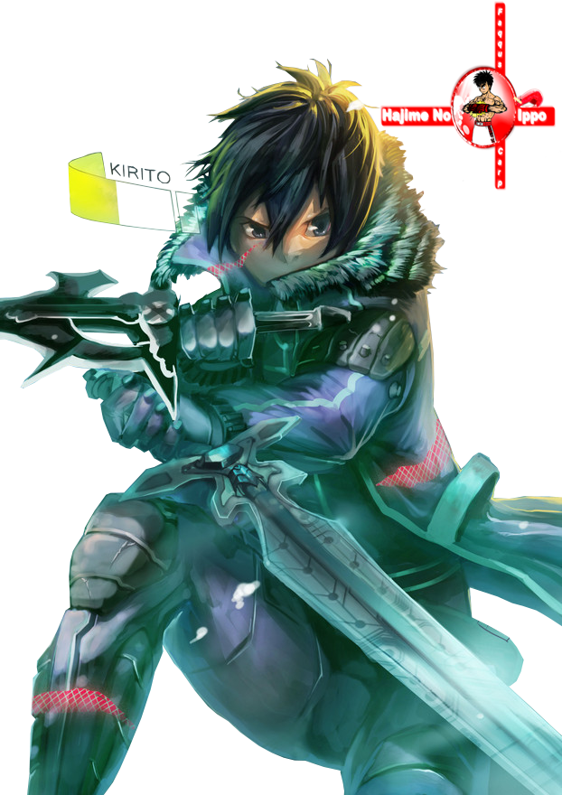 Anime Characters Use Dual Swords : Render kirito dual swords by faqquscarp on deviantart